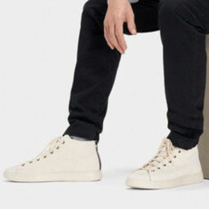 UGG Pismo High Top Sneakers Bone White Leather NEW